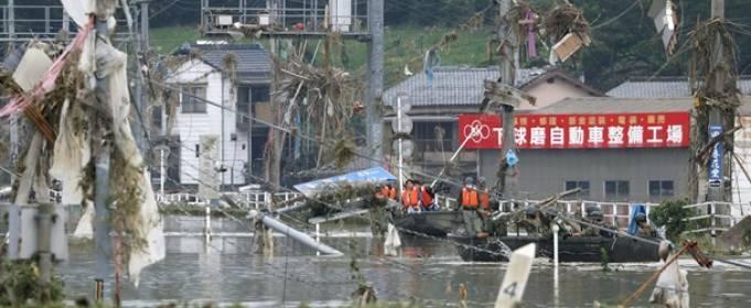 Наводнение в Японии забрало жизни 49 человек