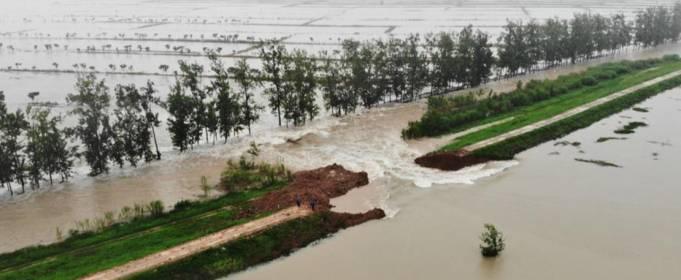 В Китае взорвали плотину из-за угрозы наводнений