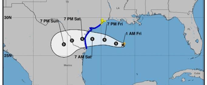 На штат Техас надвигается тропический шторм Ханна