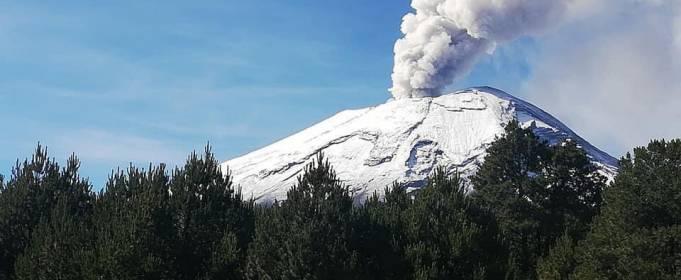 После извержения вулкана в Мексике пепел поднялся на высоту более 7 км
