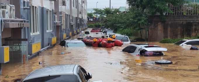 Южная Корея страдает от наводнений
