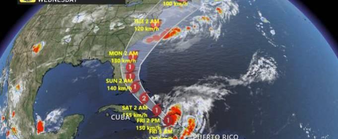 Ураган Ісайя рухається на Багами і США