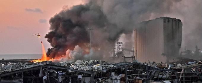 Ужасающие кадры взрыва в Бейруте