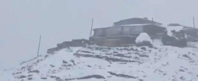 В Дагестане выпал снег