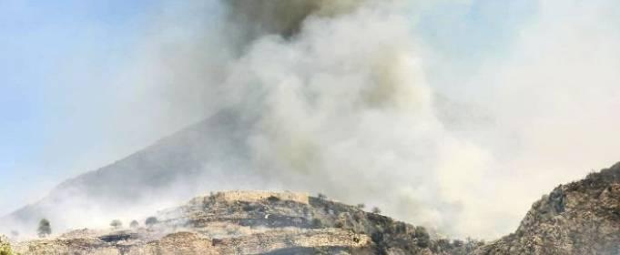 Лесной пожар остановился у ворот древнегреческой крепости