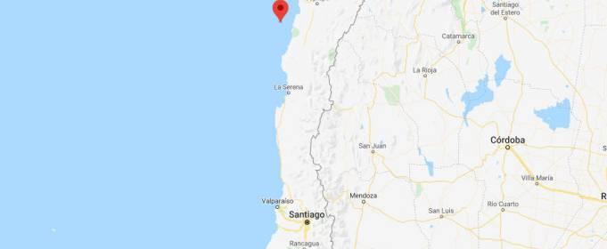 У побережье Чили произошло сильное землетрясение с афтершоком