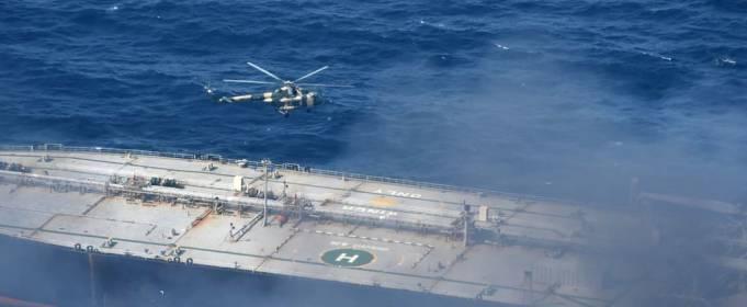 У берегов Шри-Ланки горел нефтяной танкер