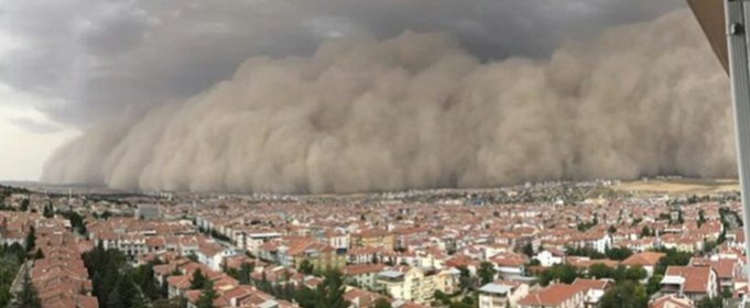 Песчаная буря накрыла столицу Турции