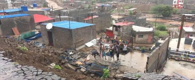 На столицу Кабо-Верде обрушилось внезапное наводнение