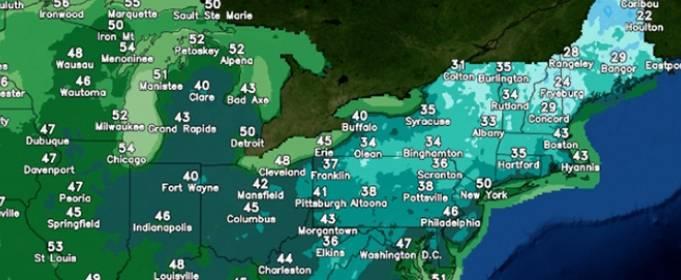 Десятки температурных рекордов были побиты, когда холодный ветер пронесся по востоку США