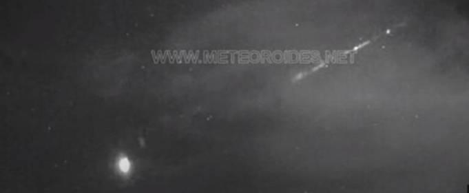 В Испании наблюдали падение метеорита