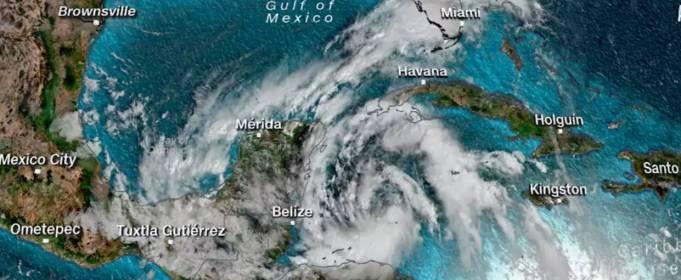 У побережья Мексики сформировался шторм Гамма