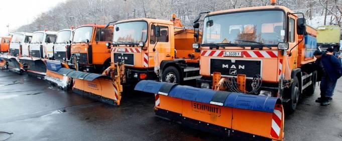 В Киеве с 15 октября часть снегоуборочной техники перейдет на круглосуточное дежурство