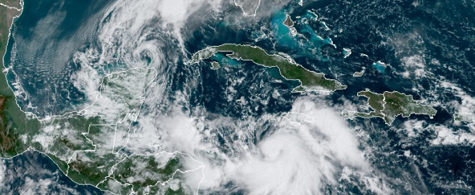 Тропический шторм «Дельта» формируется около Ямайки