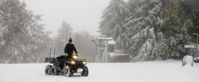 В горах Угорщини випав перший сніг