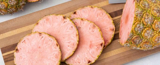 Выращен новый ананас с розовой мякотью