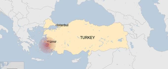В Турции и Греции произошло сильное землетрясение