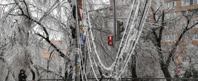 Ледяной дождь во Владивостоке