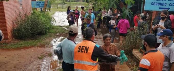 Тысячи семей пострадали от наводнения в Парагвае