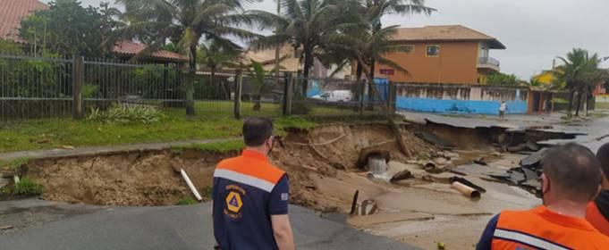 На юго-востоке Бразилии после сильных дождей начались наводнения и оползни