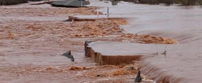 Сильные дожди вызвали наводнения на западе Австралии
