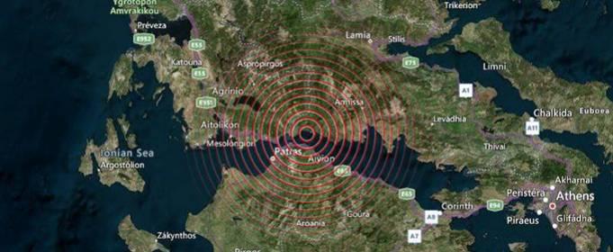 В Греции произошло землетрясение магнитудой 5.5