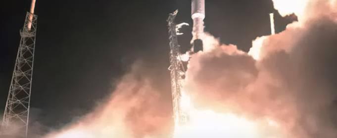 Запуск Falcon 9 омрачился неудачной посадкой первой ступени ракеты