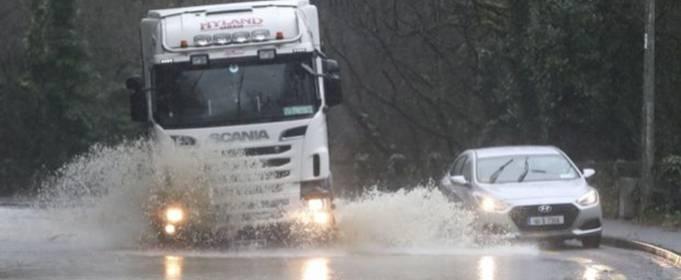 На юге Ирландии после проливного дождя произошло сильное наводнение