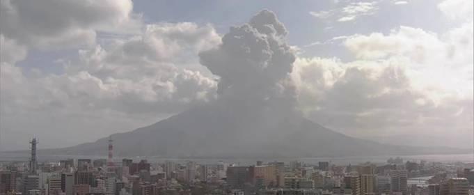 В Японии произошло извержение вулкана Сакурадзима. Видео