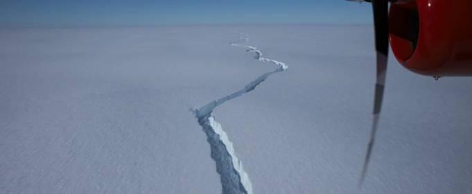 Величезний айсберг розміром з півтора Києва відколовся від шельфового льодовика в Антарктиді