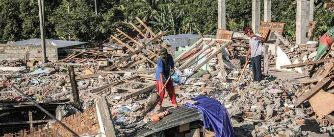 ВИДЕО. Мощное землетрясение в Индонезии