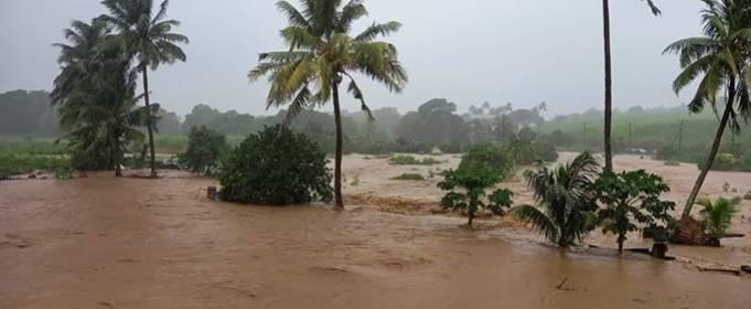 Проливные дожди вызвали внезапные наводнения на юго-востоке Маврикия