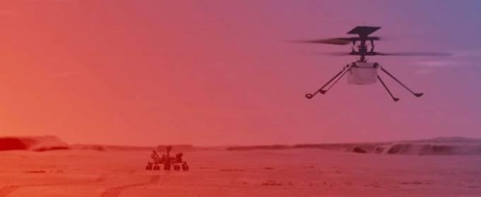 Марсианский дрон совершил первый управляемый полет на Красной планете