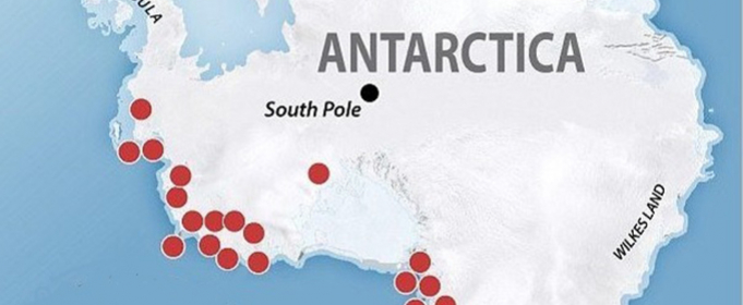 Под ледниковым покровом Антарктиды находятся не менее 138 вулканов