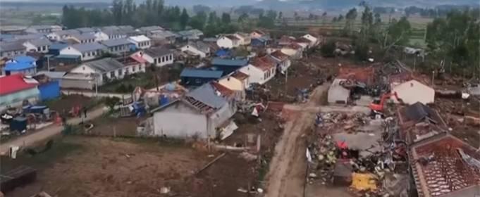 Один человек погиб в результате удара торнадо на северо-востоке Китая