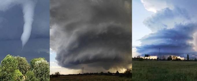 На север Италии обрушились семь торнадо. Видео