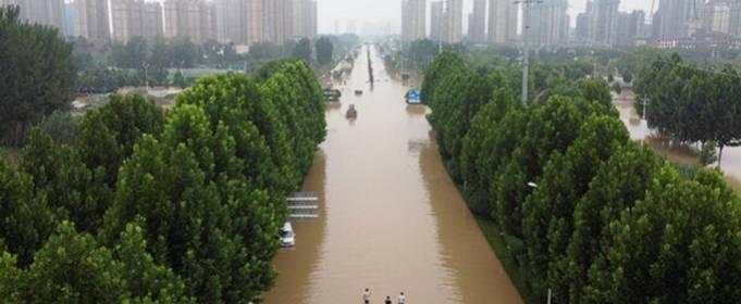 Сильные дожди вызвали наводнения в китайской провинции Хэнань