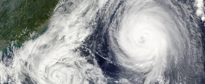 Самый мощный фронтальный циклон в Северном полушарии