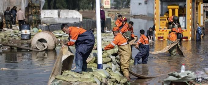 Почти 2 миллиона человек пострадали в результате наводнения в Китае