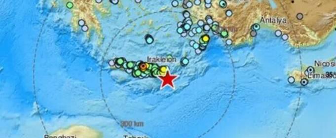 Землетрясение в Греции: на Крите произошло землетрясение магнитудой 6,4